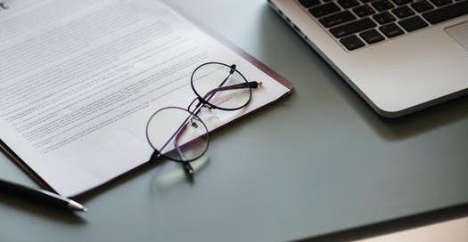 glasses on desk